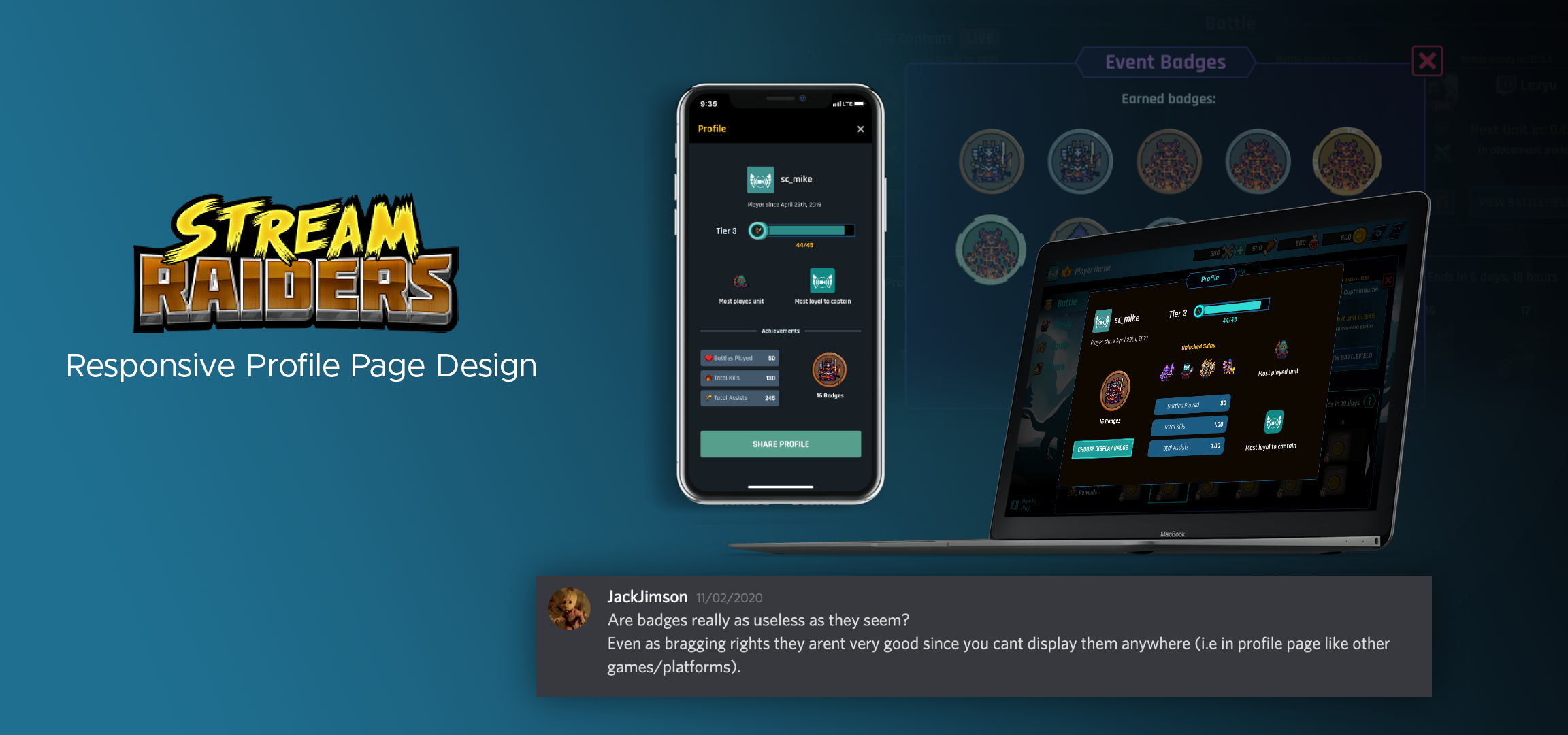 StreamRaiders-Cover-Responsive-Profile-Page